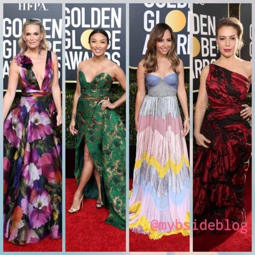 Globo de ouro; vestidos estampados